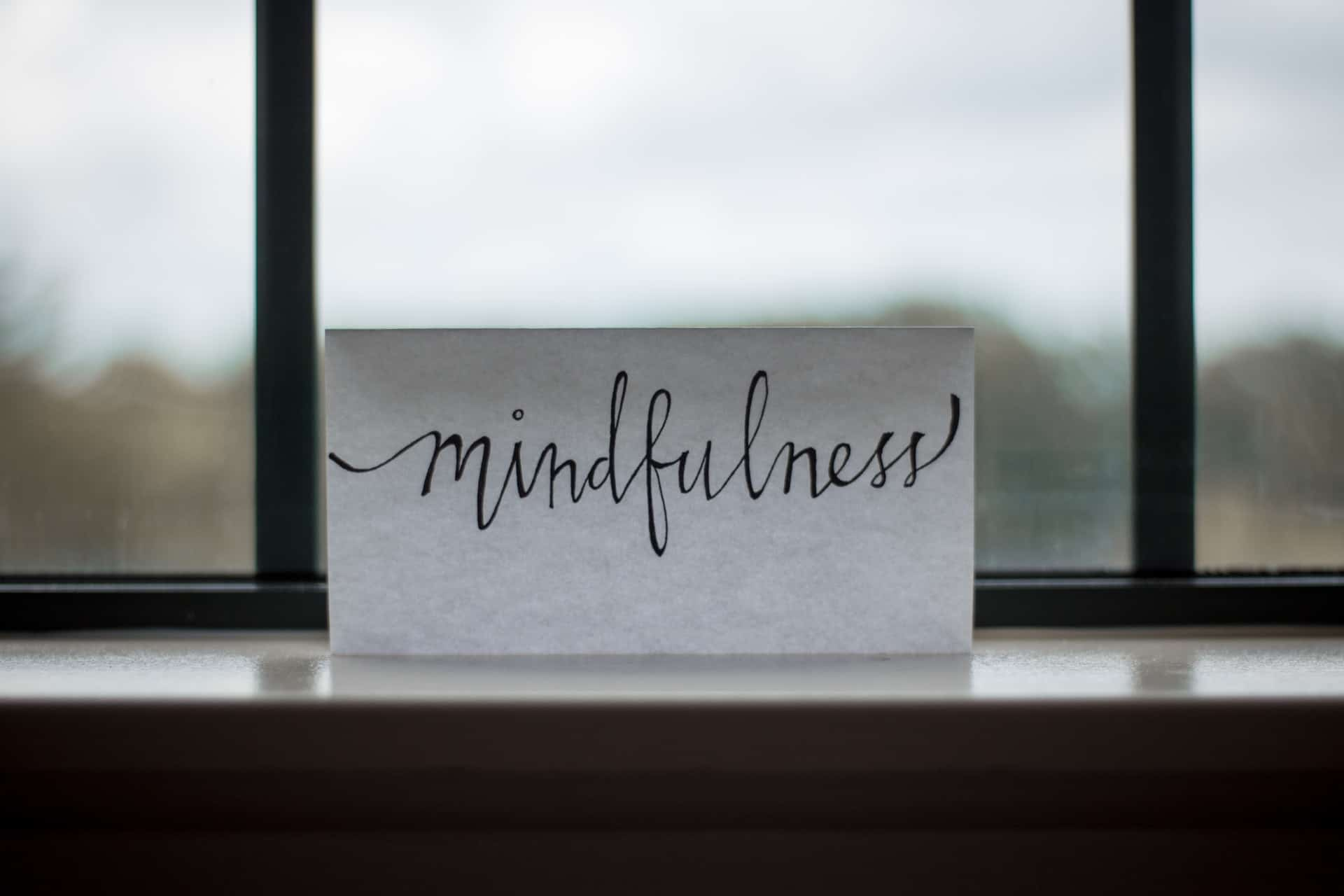 Mindfulness is an important part of recovery
